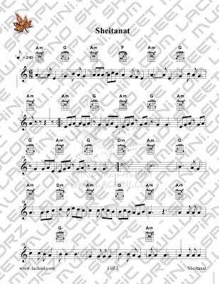 Sheitanat Sheet Music