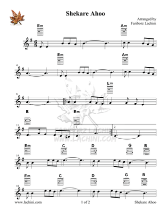 Shekare Ahoo Sheet Music