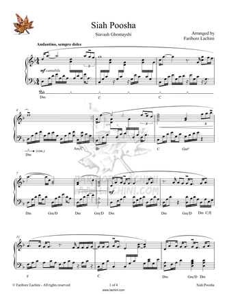 Siah Poosha Sheet Music