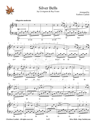 Silver Bells Sheet Music
