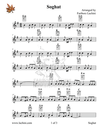 Soghat Sheet Music