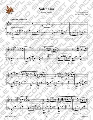 Solenzara Sheet Music