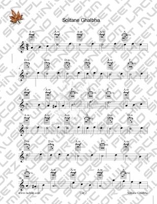 Soltane Ghalbha 2 Sheet Music