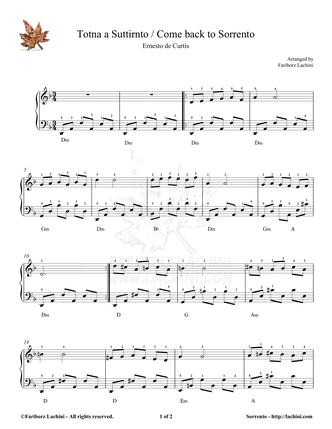 Sorrento Sheet Music