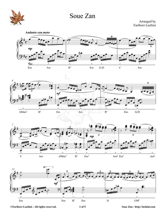 SoueZan Sheet Music