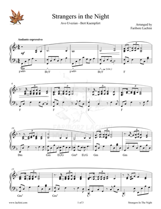 Strangers In The Night Sheet Music