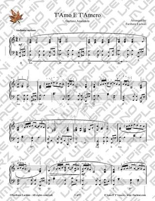 T Amo E T Amero Sheet Music