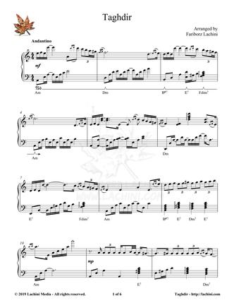 Taghdir Sheet Music
