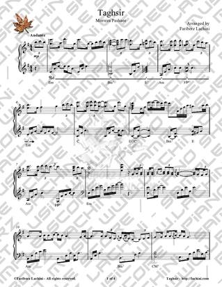 Taghsir Sheet Music