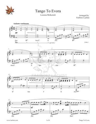 Tango to Evora Musiknoten
