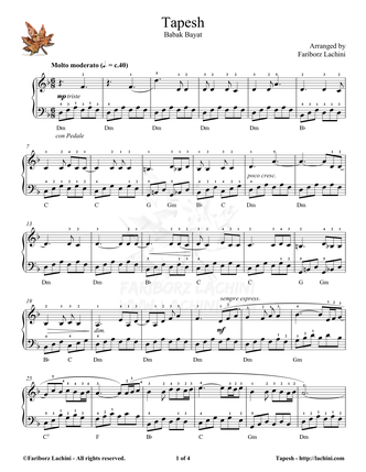 Tapesh Sheet Music