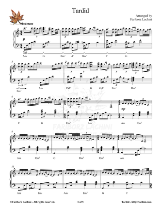 Tardid Sheet Music