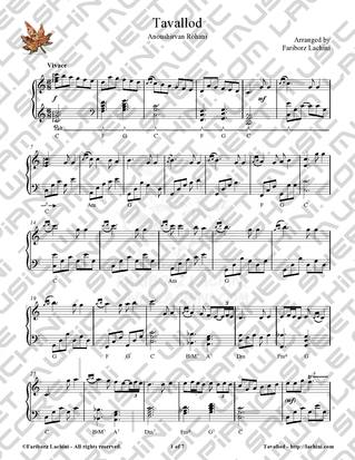 Tavallod Sheet Music