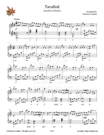 Tavallod Musiknoten