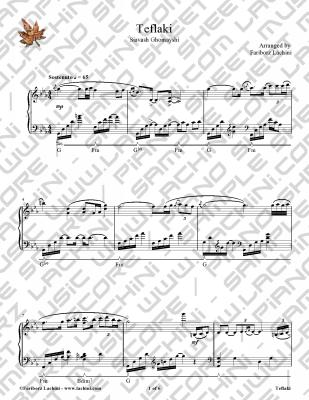 Teflaki Sheet Music