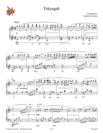 Tekyegah Sheet Music