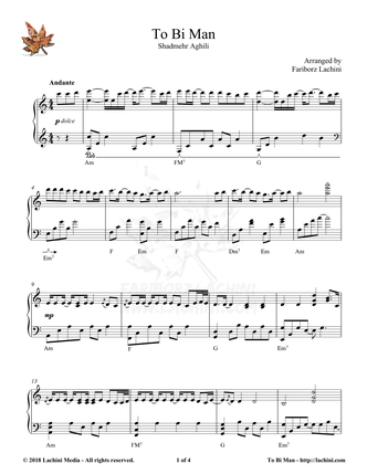 To Bi Man Sheet Music