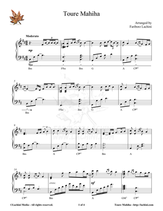 Toure Mahiha Sheet Music