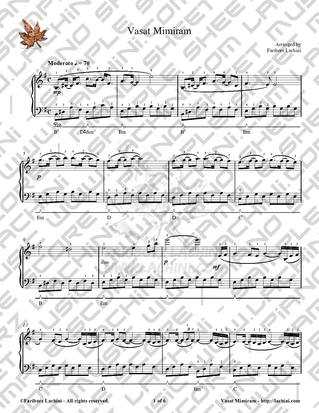 Vasat Mimiram Sheet Music