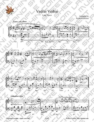 Vedrai Vedrai Sheet Music