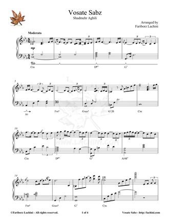 Vosate Sabz Sheet Music