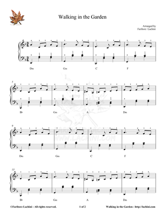 Walking in the Garden Sheet Music