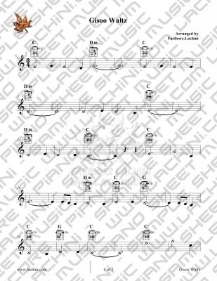 Gisoo Waltz Sheet Music
