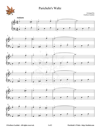 Parichehr Waltz Sheet Music