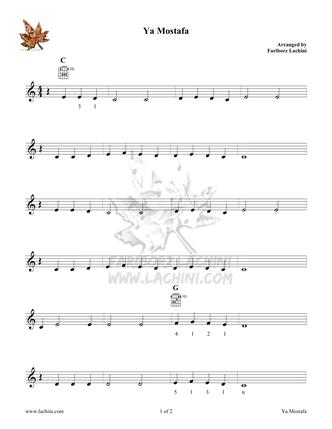 Ya Mostafa Sheet Music
