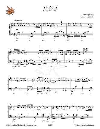 Ye Roya Sheet Music