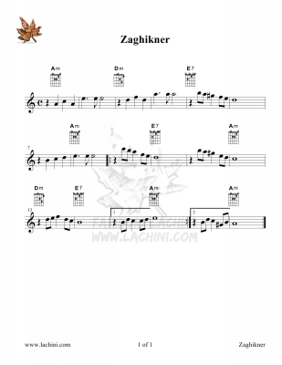 Zaghikner Sheet Music