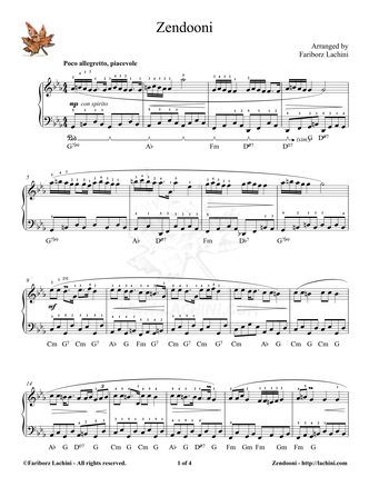 Zendooni Sheet Music