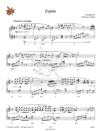 Zepiur Sheet Music