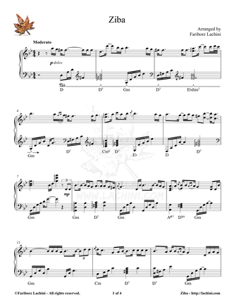 Ziba Sheet Music
