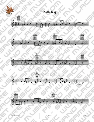 Zolfe Kaj Sheet Music