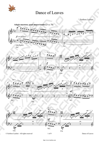Dance of Leaves Sheet Music